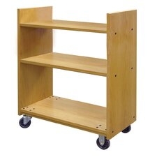 Benchmark Flat Shelf Book Truck