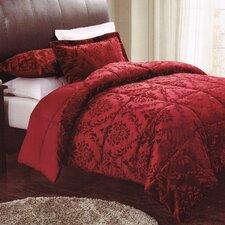 Damask Embossed Comforter Set