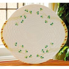 <strong>Belleek</strong> Shamrock Bread Plate
