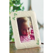 Belleek Trellis Shamrock Picture Frame
