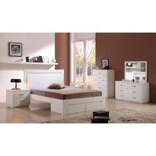 Glossy White Bedroom Set