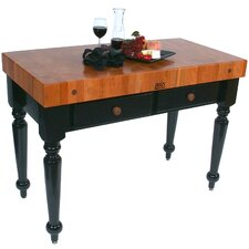 Rouge et Noir Le Rustica Prep Table with Butcher Block Top
