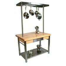 Cucina Grande Kitchen Island with Butcher Block Top
