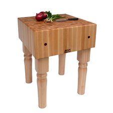 BoosBlock AB Prep Table with Butcher Block Top