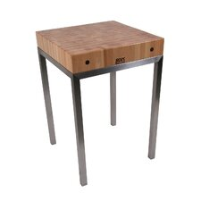 Metropolitan Designer Prep Table with Butcher Block Top