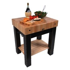 <strong>John Boos</strong> American Heritage Prep Table with Butcher Block Top
