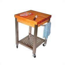 <strong>John Boos</strong> Cucina Americana Technica Kitchen Cart with Wood Top