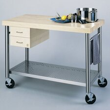 <strong>John Boos</strong> Cucina Americana Magnifico Kitchen Cart with Wood Top