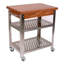 <strong>John Boos</strong> Cucina Americana Rosato Kitchen Cart with Wood Top
