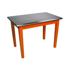 Cucina Americana Moderno Prep Table with Stainless Steel Top