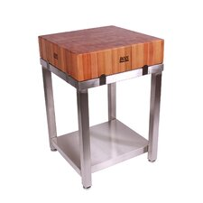 <strong>John Boos</strong> Cucina Americana LaForza Kitchen Island Wood Top