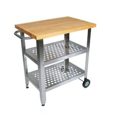 <strong>John Boos</strong> Cucina Americana Avanti Kitchen Cart with Wood Top