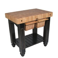 <strong>John Boos</strong> American Heritage Gathering Block II Prep Table with Butcher Block Top