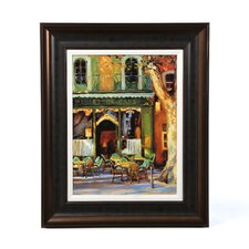 Paulette's Café by Keith Wicks Framed Painting Print