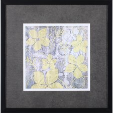Yellow and Gray II by Jennifer Goldberger Framed Painting Print
