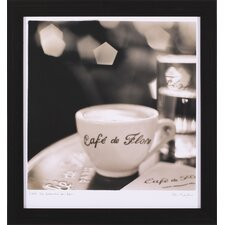 "<strong>Art Effects</strong> Café St. Germain des Pres Art - 16"" x 15"""