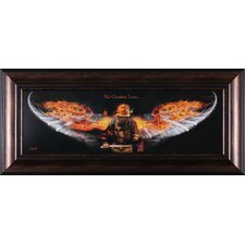 "<strong>Art Effects</strong> No Greater Love Fire Fighter Art - 20"" x 44"""
