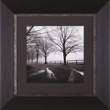 After The Rain, Black And White Morning, Corner Fence and Fence in The Mist by Harold Silverman Framed Photographic Print