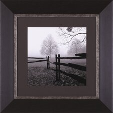 Fence In The Mist Framed Artwork