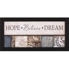 <strong>Art Effects</strong> Hope Believe Dream B25085 Framed Artwork