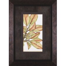 Small Gilded Leaves II by Jennifer Goldberger Framed Graphic Art