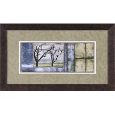 Small Tandem Trees IV Framed Artwork