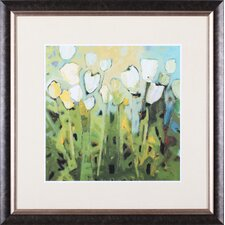 White Tulips I by Jennifer Harwood Framed Painting Print