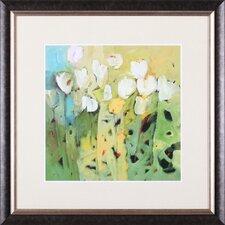 White Tulips II by Jennifer Harwood Framed Painting Print