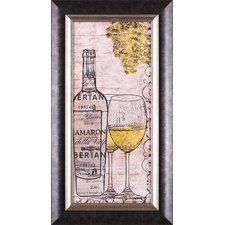 White Wine Framed Artwork