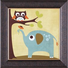 ''Owl and Elephant'' Framed Art