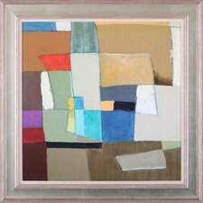 'Urban Mix II' by Carey Kingsbury Framed Painting Print