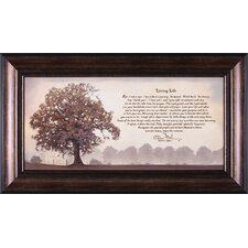 Living Life by Bonnie Mohr Framed Textual Art