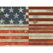 Flag of Independence by Norman Wyatt, Jr. Painting Print on Canvas