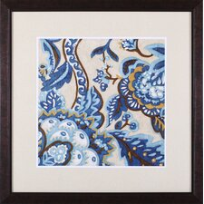 Indigo Tapestry I and II by Chariklia Zarris Framed Painting Print