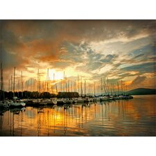 Marina Sunrise II by Danny Head Photographic Print on Canvas