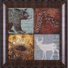 Lodge I, II, III, IV and Lodge Patches by Stephanie Marrott Framed Graphic Art