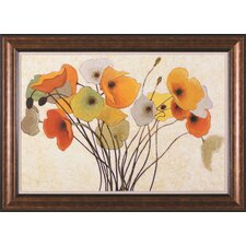 Pumpkin Poppies I by Shirley Novak Framed Painting Print