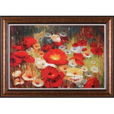 Meadow Poppies I by Lucas Santini Framed Painting Print