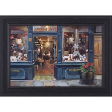 Parisian Wine Shop by Marilyn Hageman Framed Painting Print