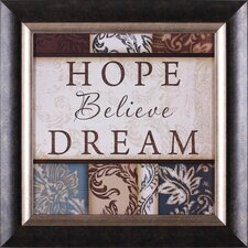 Hope Believe Dream Wall Art
