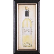 Sparkling Rose, Vintage Rouge, Grand Cru Blanc and Bubbly Champagne Bottle by Emily Adams Framed Painting Print