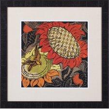 Sunflower Series #37 by Ouida Touchón Framed Painting Print