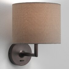Appa Solo Interior Wall Lamp in Bronze with Oyster Shade