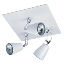 Polar Square 3 Light Semi Flush Light