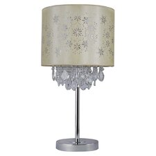 Agot Chrome Base with Hanging Crystal Table Lamp