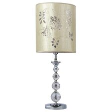 Agrippa Chrome Base with Crystal Table Lamp
