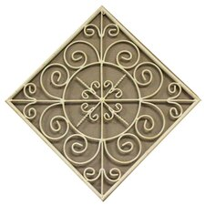 Metal Square Wall Plaque in Cream