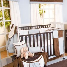 Blue Chocolate 4 Piece Crib Bedding Set