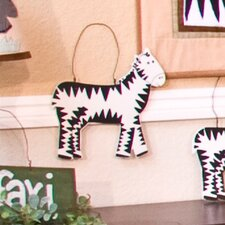 On Safari Zebra Hanging Art
