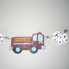 Fire Engine Garland Hanging Art